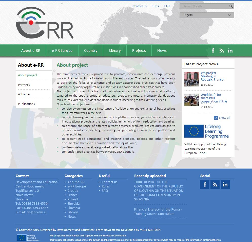 e-Roma Resource Web Platform
